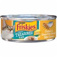 Friskies Tasty Treasures Chicken & Ocean Fish Dinner Wet Cat Food