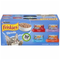 Friskies Savory Shreds Gravy Wet Cat Food Variety Pack 32 Count