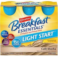 Carnation Breakfast Essentials Cafe Mocha Light Start Nutritional Drink