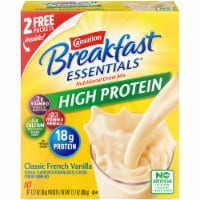 Carnation Breakfast Essentials High Protein Classic French Vanilla Nutritional Drink Mix Packets