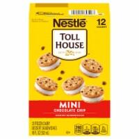 Nestle Toll House Mini Vanilla Chocolate Chip Cookie Frozen Dairy Dessert Sandwiches 12 ct