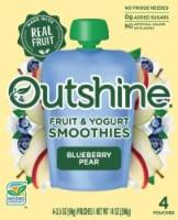 Outshine Fruit & Yogurt Blueberry Pear Smoothie Pouch - 14 oz