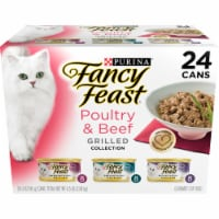 Fancy Feast Poultry & Beef Grilled Collection Wet Cat Food Variety Pack