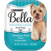 Bella Porterhouse Steak Flavored Wet Dog Food For Small Dogs