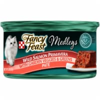 Fancy Feast Medleys Wild Salmon Primavera Pate Wet Cat Food