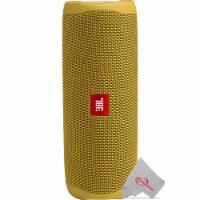 Jbl Flip 5 Waterproof Portable Bluetooth Speaker - Mustard Yellow - 1