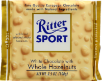 Ritter Sport White Chocolate Whole Hazelnut Candy Bar