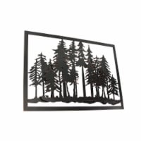 3D Laser Cut Pine Tree Forest Metal Wall Art Hanging Decor Lodge Decoration - One Size