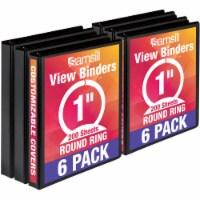 Samsill Economy Round Ring View Binders - 6 pk - Black