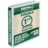 Samsill Earth's Choice Biobased Round Ring View Binder - 1.5 in