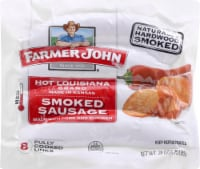 Farmer John Hot Louisiana Brand Smoked Pork Sausage Links 8 Count