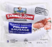 Farmer John Smoked Polish Pork Sausage Links 8 Count