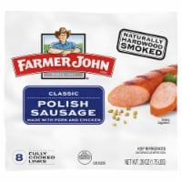 Farmer John® Smoked Polish Pork Sausage Links - 8 ct / 28 oz