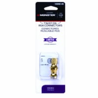 Monster Just Hook It Up Twist-On RG6 Coaxial Connector 2 pk - Case Of: 6; Each Pack Qty: 2; - Case of: 6