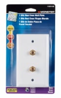 Monster Just Hook It Up White 1 gang Plastic Coaxial Wall Plate 1 pk - Case Of: 1; Each Pack - Count of: 1