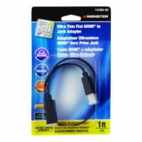 Monster Cable Just Hook It Up 1 ft. L High Speed Cable with Ethernet HDMI - Case Of: 1; Each - Count of: 1