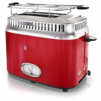 Russell Hobbs TR9150RDR Retro Style 2 Slice Toaster - Red - 1