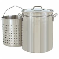 Bayou Classic Large 62 Quart Stainless Steel Soup Cooking Stock Pot with Basket - 1 Unit