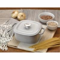 Bayou Classic 4 qt. Casserole Dish with Lid Enameled Cast Iron, Grey - 1