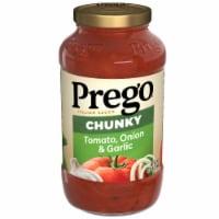 Prego Chunky Garden Harvest Tomato Onion & Garlic Pasta Sauce