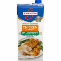 Swanson Natural Goodness Less Sodium Chicken Broth - 32 oz