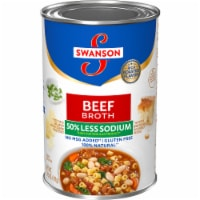 Swanson 50% Less Sodium Natural Beef Broth
