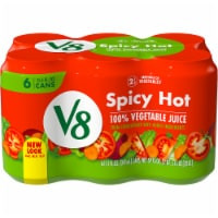 V8 Spicy Hot 100% Vegetable Juice - 6 ct / 11.5 fl oz