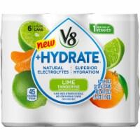 V8 +Hydrate Lime Tangerine Beverage - 6 cans / 8 fl oz