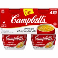 Campbell's® Microwaveable Cups Homestyle Chicken Noodle Soup - 4 ct / 7 oz