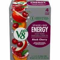 V8 +Energy Black Cherry Sparkling Energy Drink - 4 cans / 11.5 fl oz