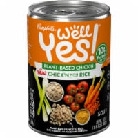 Campbell's® Well Yes!® Plant-Based Chick'n with Rice Soup - 16.3 oz