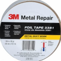 3M Company 3381 1.88 in. x 50 yd., Aluminum Foil Tape, Silver - 1
