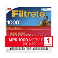 Filtrete™ Micro Allergen Defense 1000 Electrostatic Air Cleaning Filter - 20 x 20 in