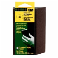 3M All Purpose Fine Grit Angled Sanding Sponge - Black