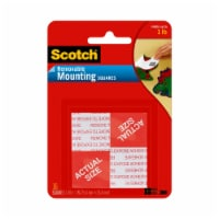 Scotch® Heavy Duty Double-Stick Mounting Squares - 16 Pack