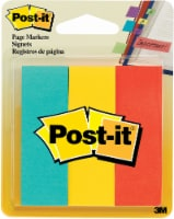 Post-it Page Markers - Emerald/3M Yellow/Saffron 3 Pack