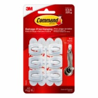 Command™ Damage-Free Hanging Mini Hooks - 6 Pack - White