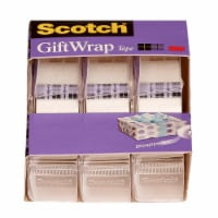 Scotch® Satin Finish GiftWrap Tape - 3 Pack - Clear
