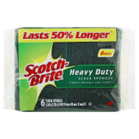 Scotch-Brite™ Heavy Duty Scrub Sponges - 6 pk - Green/Yellow