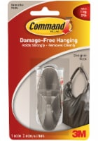 Command™ Damage-Free Designer Hook - Brushed Nickel