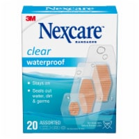 Nexcare Waterproof Clear Assorted Bandages