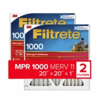 Filtrete Micro Allergen Defense Electrostatic Air Cleaning Filters - 2 pk - White
