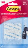 Command™ Damage-Free Hanging Mini Hooks - Clear