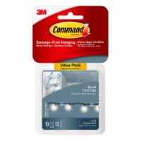3M Command Clear Damage-Free Round Cord Clips Value Pack - 10 Pack