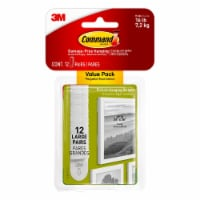 Command™ Large Picture Hanging Strips - White - 12 pk