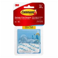 Command™ Damage-Free Small Hooks Value Pack - Clear - 6 pk