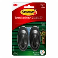 Command™ Outdoor Damage-Free Outdoor Terrace Hooks - Slate
