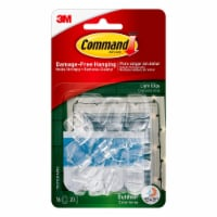 Command™ Outdoor Damage-Free Light Clips - Clear - 16 pk