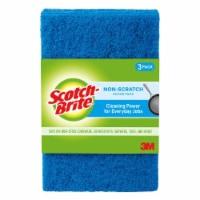 Scotch-Brite™ Non-Scratch Scour Pads - Blue