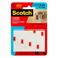 Scotch® Clear Mount Tape Strips - 8 Pack